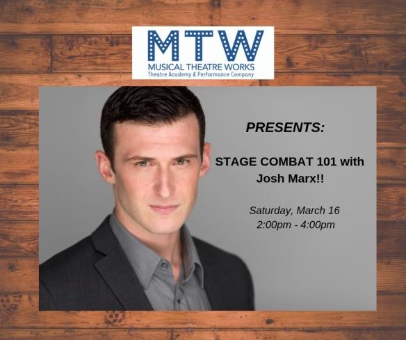 Stage Combat 101 MTW Spring 2019